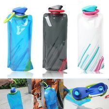 Chic 700mL Outdoor Foldable Reusable Sport Water Bottle Bag BPA-Free Bicycle