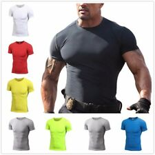 Men's NEW Summer Short Sleeves Men's Sports T-Shirt Gym Fitness Casual Tops Tee