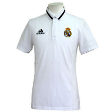 adidas Men'S Polo Shirt Real Madrid white cotton XS S M L XL XXL XXXL NEW