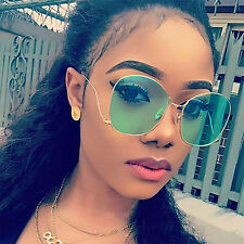 Square Women Sunglasses Vintage Designer Butterfly Gold Metal Upside Down Style