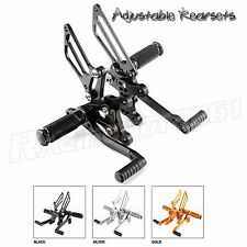 CNC Adjustable Racing Rear Sets Rearsets for Triumph SPEED TRIPLE 2001 - 2010