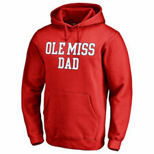 Fanatics Branded Ole Miss Rebels Red Team Dad Pullover Hoodie - College