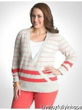 LANE BRYANT  ~ NEW NWT Plus 18 20 22 24 26 28 ~ Striped Surplice Sweater 2X 3X 4