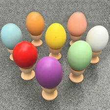 Kids DIY Painting Wooden Color Egg Toy Easter Egg Baby Toys Gift Education