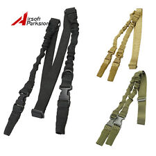 Tactical 2 Two Point Rifle Shotgun Bungee Sling Strap Adjustable Quick Release