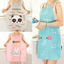 New!!! Women Cute Cartoon Waterproof Apron Kitchen Restaurant Cooking Bib Aprons