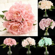 Charm Peony Silk Flowers Bridal Bouquet Hydrangea Decor Flower Arrangement