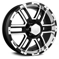 17x8 ION ALLOY Wheels +10 | 8x165.1 | 130.8 179 Black w Machined Face & Lip