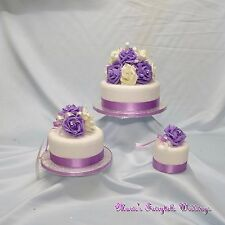 WEDDING FLOWERS CAKE TOPPER FLOWERS DECORATION PACKAGE SWEET LILAC FOAM ROSES