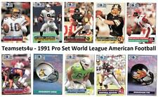 1991 Pro Set World League American Football Set ** Pick Your Team **