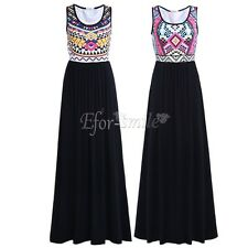 Formal Long Women Cotton Dress Casual Evening Party Cocktail Bridesmaid Wedding