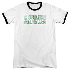 DC Comics Green Lantern Guardians Mens Adult Heather Ringer Shirt White/Black