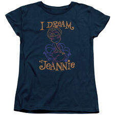 I Dream Of Jeannie Jeannie Paint Womens Short Sleeve Shirt