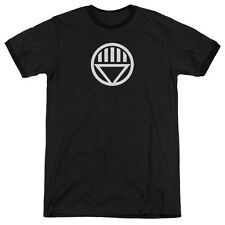Green Lantern Black Lantern Logo Mens Adult Heather Ringer Shirt Black