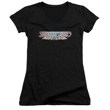 Saturday Night Fever Logo Juniors V-Neck Shirt