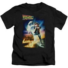 Back To The Future Poster Big Boys Youth Shirt BLACK