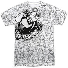 Popeye Many Faces Of Popeye Mens Sublimation Polyester Shirt