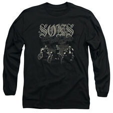 Sons Of Anarchy Sons Live Free Mens Long Sleeve Shirt Black