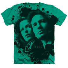 X Files Mulder And Scully Mens Heather Shirt Kelly Green