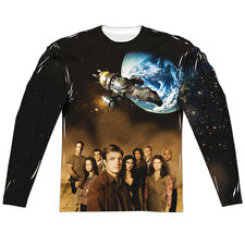 Firefly Cast (Front Back Print) Mens Long Sleeve Sublimation Shirt White