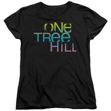 One Tree Hill Color Blend Logo Womens Short Sleeve Shirt BLACK