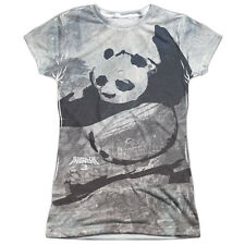 Kung Fu Panda Brushed Po Juniors Sublimation Polyester Shirt White