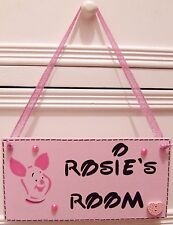 HANDMADE PERSONALISED DISNEY WINNIE THE POOH PIGLET GIRLS ROOM DOOR PLAQUE SIGN