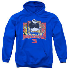 Kung Fu Panda Kung Furry Mens Pullover Hoodie Royal Blue