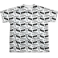 Batman Repeat Dark Knight Big Boys Youth Sublimated Polyester Shirt