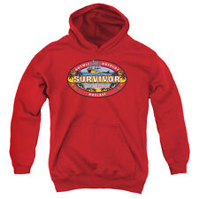 Survivor Cook Islands Big Boys Youth Pullover Hoodie RED