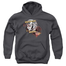 The Twilight Zone The Norm Big Boys Youth Pullover Hoodie CHARCOAL