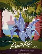 WPA POSTER Poster promoting Puerto Rico park with palm trees c1940