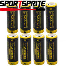 PALIGHT LIR26650 5600mAh 3.7V Li-ion Rechargeable Protected Battery Cell Torch