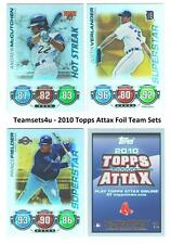 2010 Topps ATTAX Foil Baseball Set ** Pick Your Team **