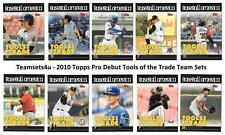 2010 Topps Pro Debut Tools of the Trade Baseball Set ** Pick Your Team **