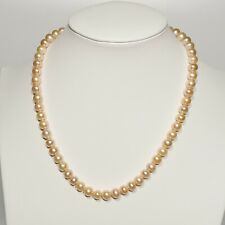 """9-10mm AA Pink Pearl Necklace 18"""" Freshwater Pearl Necklace Pendant"""