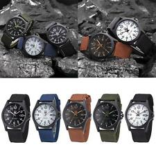 New Mens Military Sports Watch Stainless Steel Analog Army Quartz Wrist Watch SS