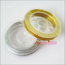 2 New Silk Beading Cords Strings Chains Threads Gold or Silver 10m