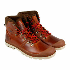 Palladium Pallabrouse Hikr Mens Brown Leather Casual Dress Lace Up Boots Shoes