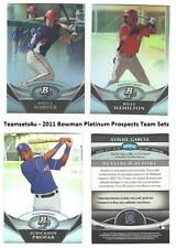 2011 Bowman Platinum Prospects Baseball Set ** Pick Your Team **