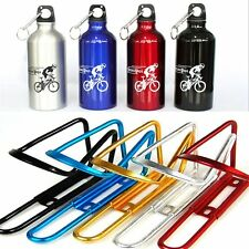 Aluminium Cycling Bicycle Bike Water Bottle Cage Holder / 750ml Water Bottle NEW