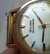 EARLY Vintage 1964 Men's Gold Filled Bulova Accutron 214 Tuning Fork Watch Runs