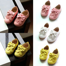 Children Baby Girls Toddler Infant Bowknot Princess Slip On Shoes Flats Loafer