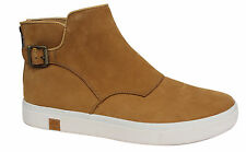 Timberland Amherst Zip Up Buckled Womens Wheat Chelsea Boots A18U8 U56