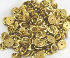 Brass clutch backs pin backs insignia badge guards lot of 4 to 1000 your pick