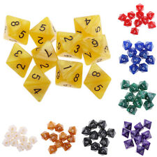 10PCS 8 Sided Dice D8 Polyhedral Dice for Dungeons and Dragons  MTG RPG