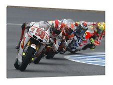 Simoncelli Rossi Stoner Lorenzo 30x20 LARGE Moto GP Framed Picture Canvas