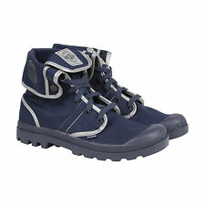 Palladium Pallabrouse Bgy Tw R Mens Blue Canvas Casual Dress Lace Up Boots Shoes