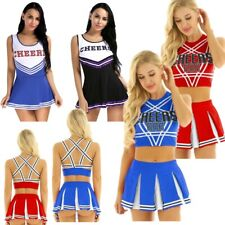Women Cheerleader Costume School Cheer Musical Outfit Fancy Dress Uniform Outfit