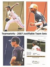 2007 Justifiable Baseball Set  ** Pick your Team **